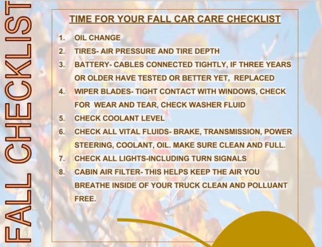 Fall Car Care